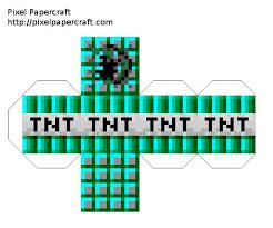 Resultado de imagem para minecraft papercraft blocks tnt