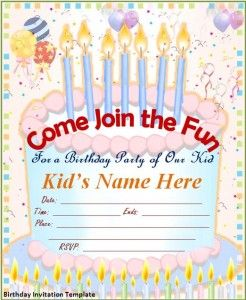Free Editable Download In MS Word Birthday Invitation Template