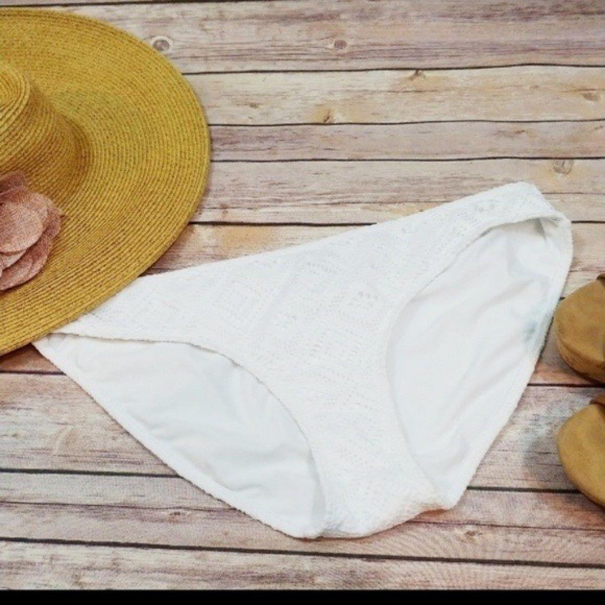 Aerie White Crochet Bikini Bottom NWOT #crochetbikinibottoms