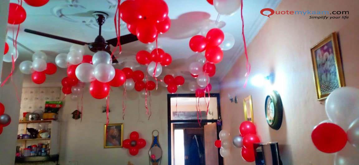 Anniversary Decoration At Home Anniversary Decorations Birthday