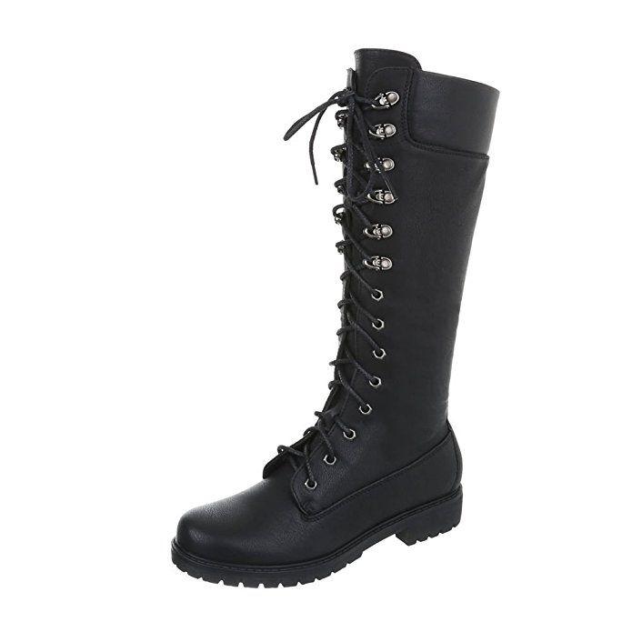 Schnürstiefel Damenschuhe Klassischer Stiefel Blockabsatz