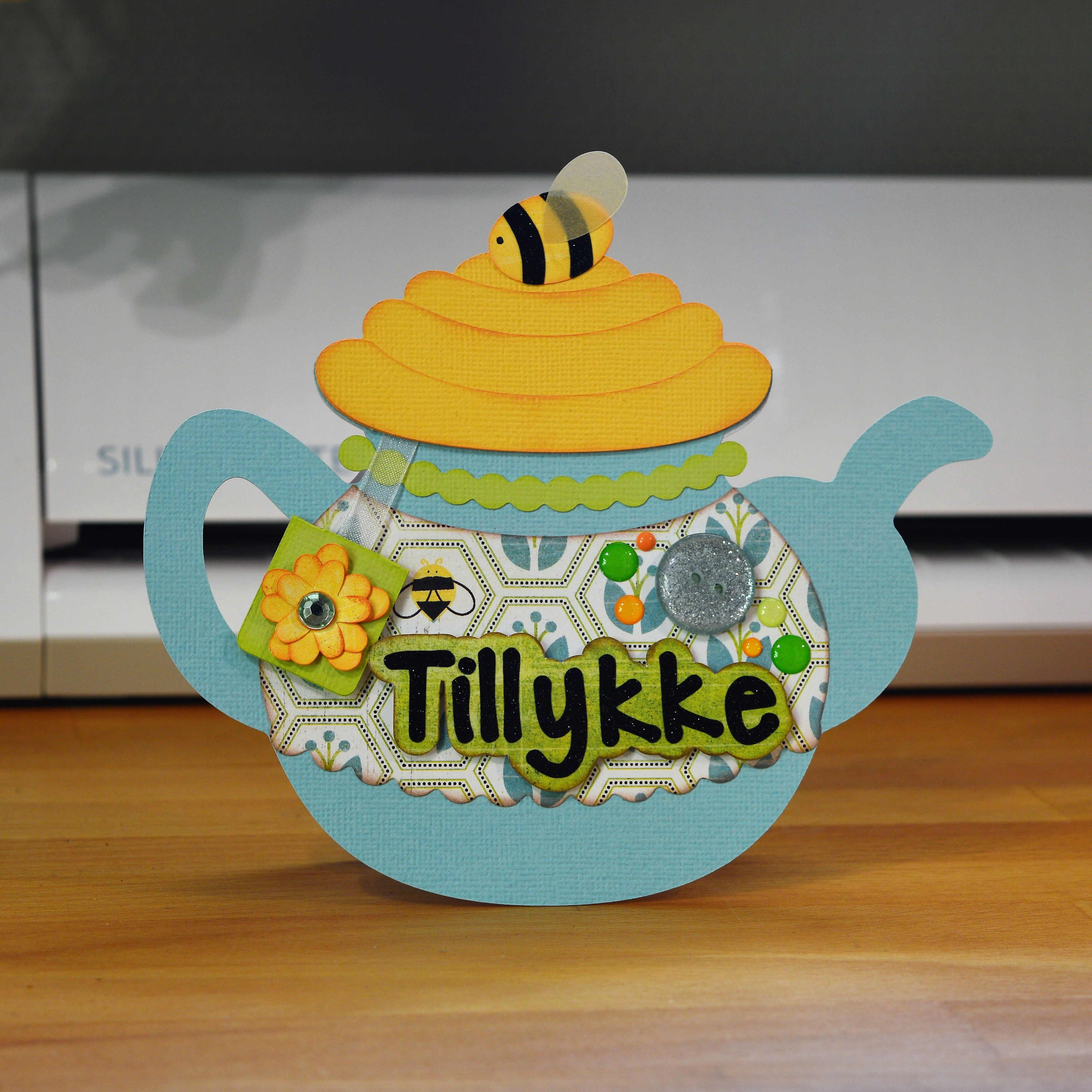 The Honey Bee Teapot Card Designed By Svgcuts