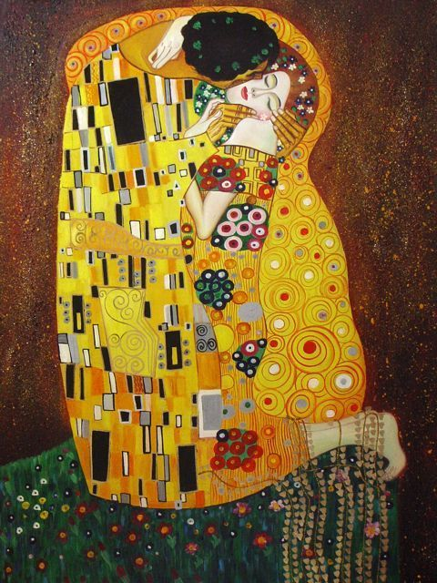 le baiser gustav klimt amoureux pinterest tableau original tableau d coratif et. Black Bedroom Furniture Sets. Home Design Ideas