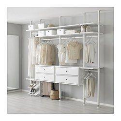 Sistema Componibile Per Cabina Armadio.Combinazioni Di Montanti Elvarli Sistema Componibile Ikea