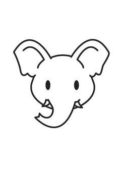 Kleurplaten Olifantjes.Kleurplaat Kop Olifant De Olifantjes Elephant Head Coloring