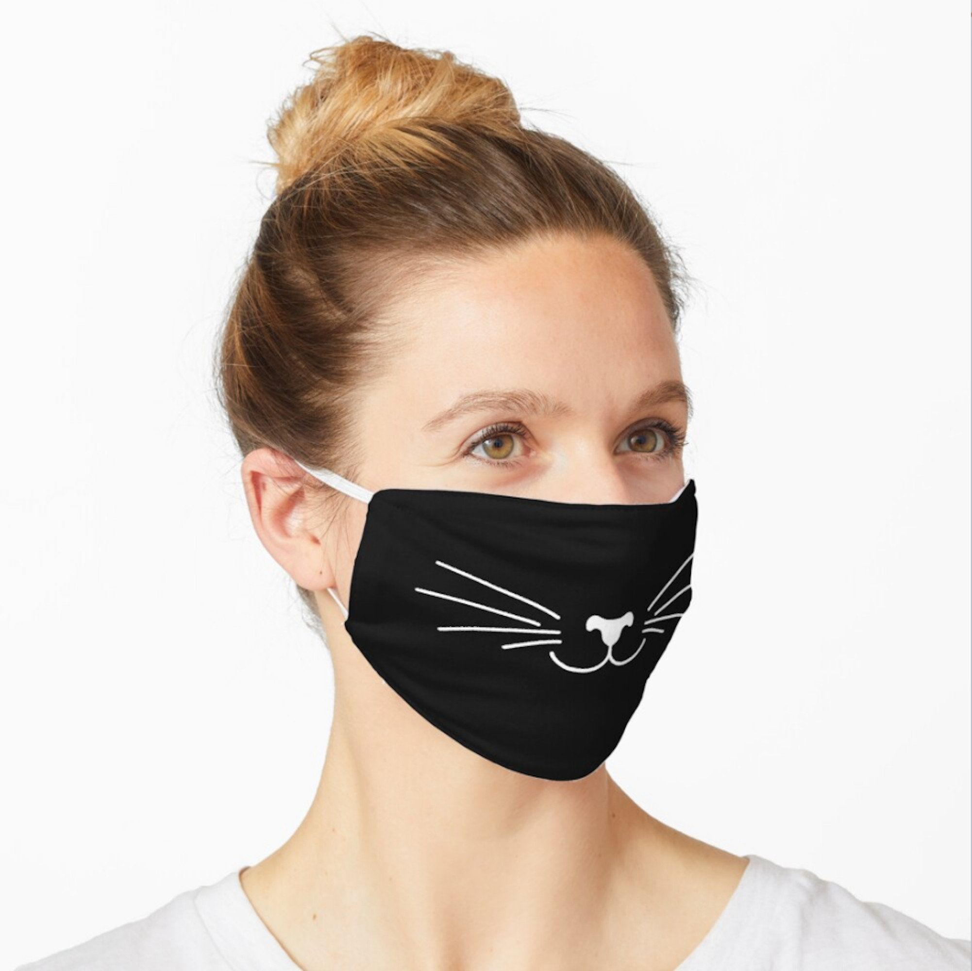 Cute Cat Face Protection Mask Washable Reusable Handmade In Eu Animal Face Mask Cover Comfortable Face Mask Unisex Black Mask In 2020 Cat Face Mask Animal Face Mask Funny Face Mask