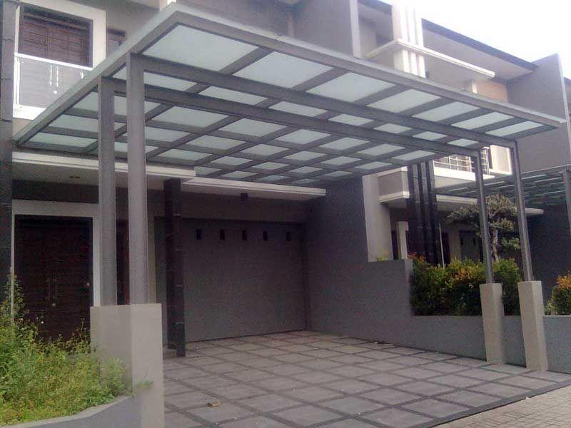 gambar baja ringan kanopi 40 model rumah minimalis pergola