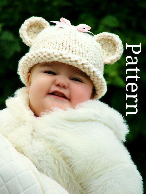 Baby Bear Hat Pattern Baby Hat Knitting Pattern By Creatiknit 550