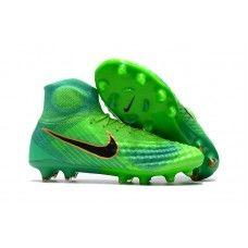online store 79c6f 03a98 Botas De Futbol Nike Magista Obra II FG Verde Solar Negro Verde Core Web