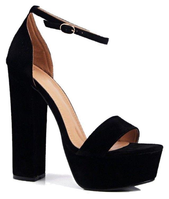 Zapatos negros con cremallera Boohoo para mujer nluLOENwu