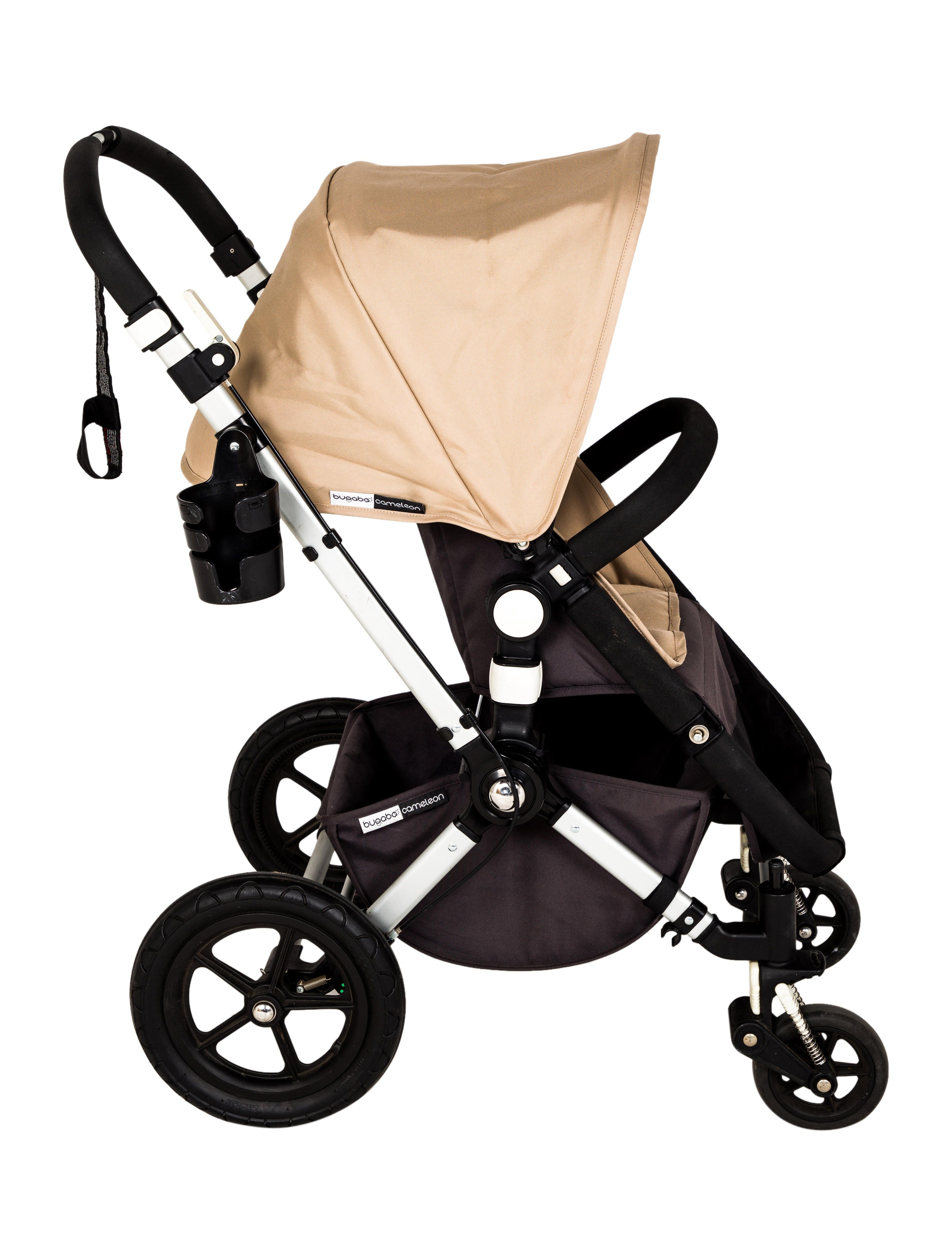 Black and beige Bagaboo Cameleon Stroller 1 with cup