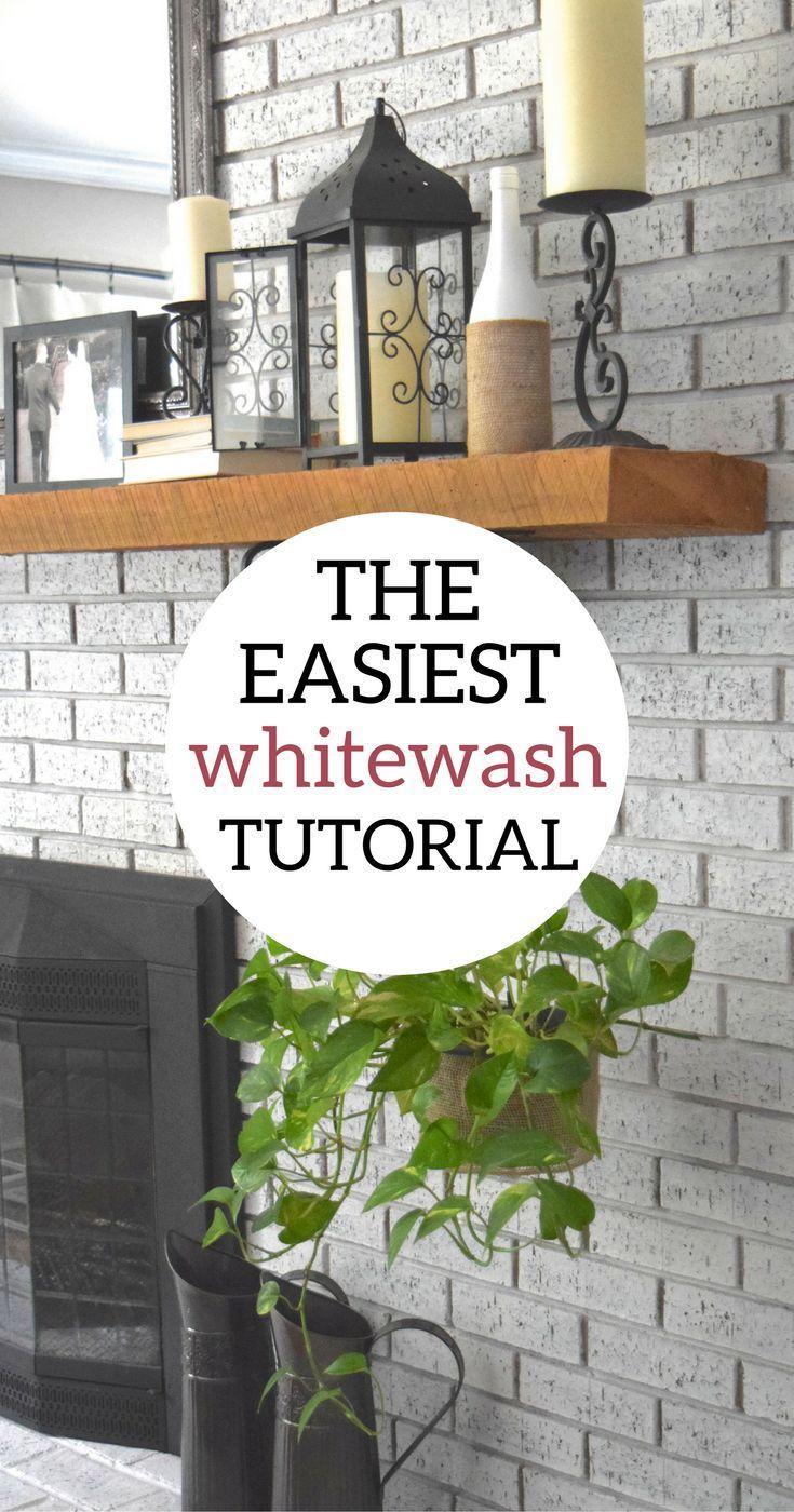 How to whitewash your brick fireplace whitewash brick fireplaces