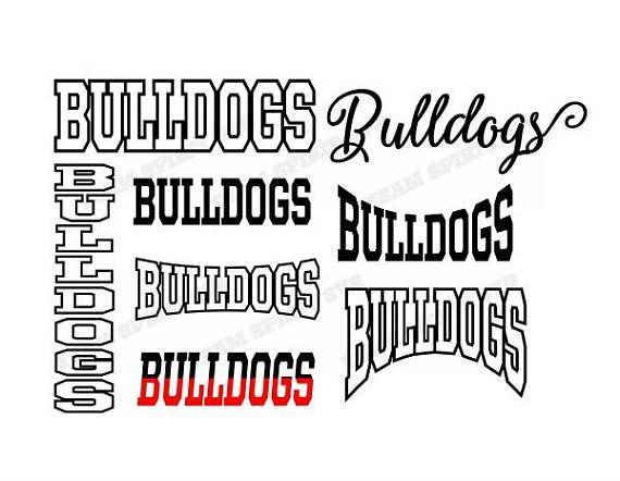 Bulldogs Mascot SVG, DXF, EPS, Silhouette Studio, Download