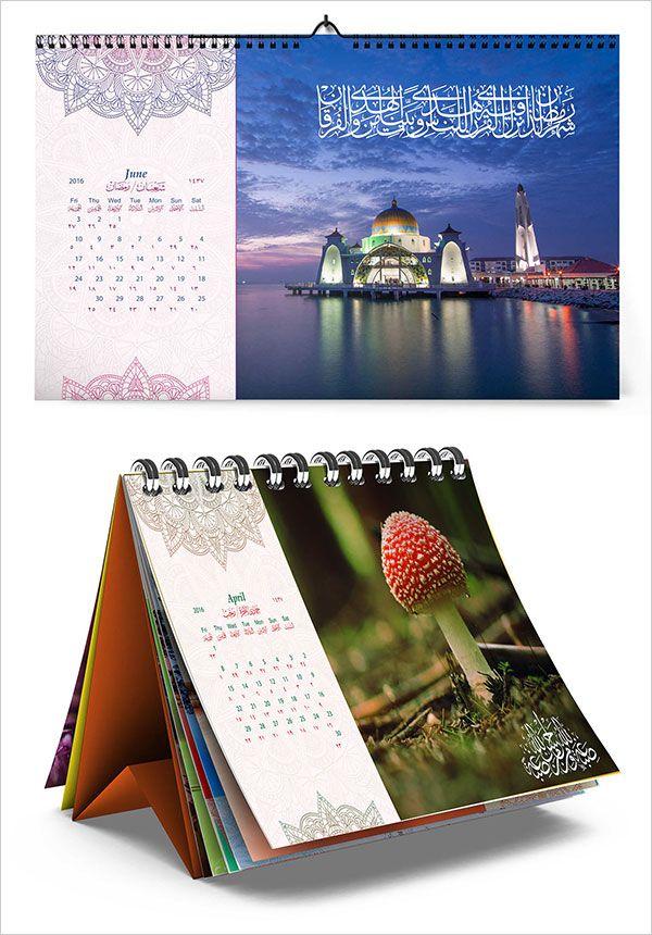 25 Best New Year 2016 Wall Desk Calendar Designs For Inspiration Desk Calendar Design Calendar Design Desk Calendars
