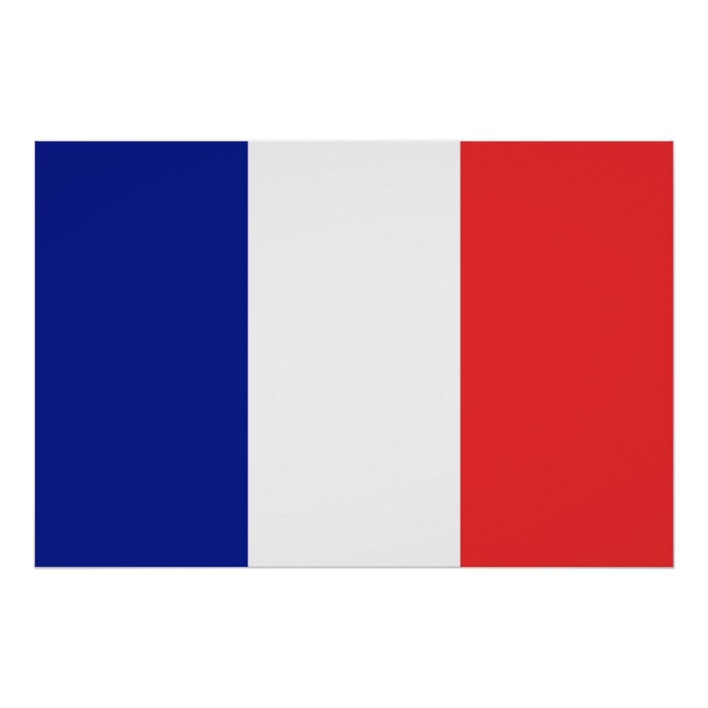 Flag Of France French Tricolore Poster Zazzle Com In 2020 France Flag French Flashcards French Flag