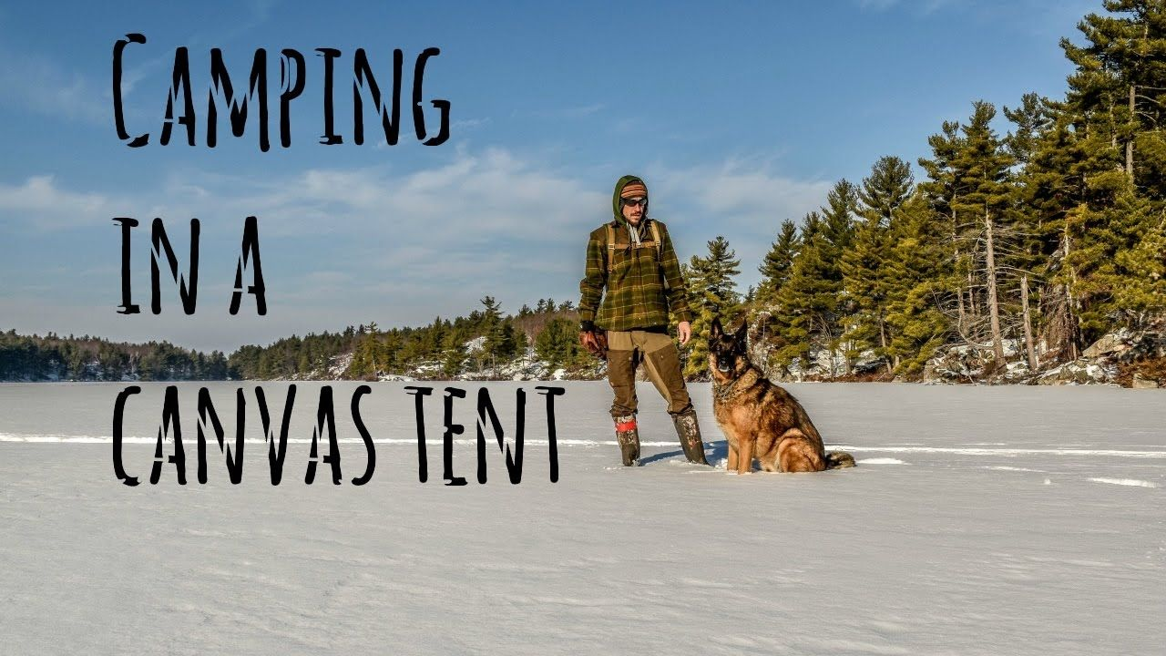 3 Day Winter Camping Trip in a Hot Tent with my Dog ...