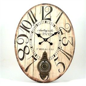 Reloj pared Ovalado Antiquite de Paris