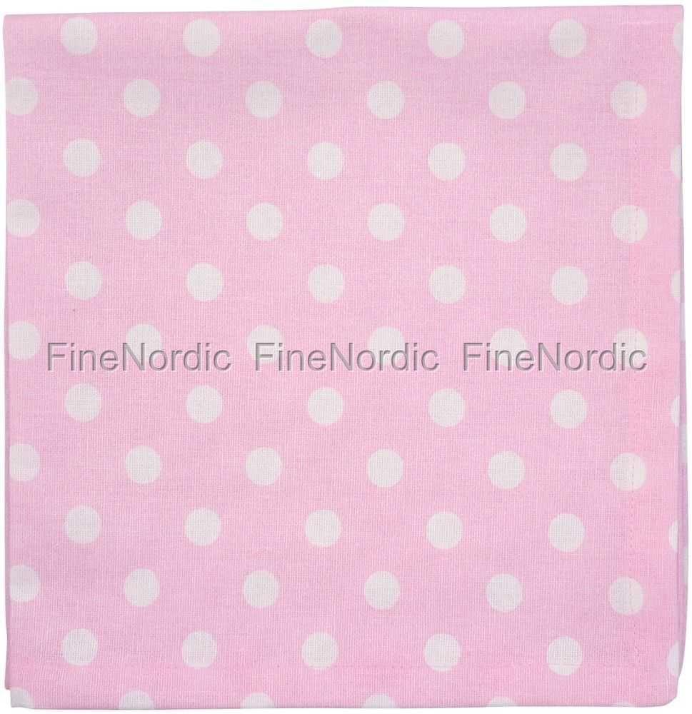 Cloth Napkin Pink White Dots From Krasilnikoff