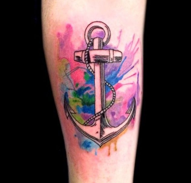 Best 25 Color Tattoos Ideas On Pinterest: Best 25+ Watercolor Anchor Tattoo Ideas On Pinterest