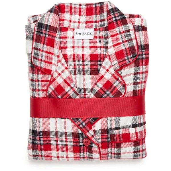 Kim Rogers Red Plaid 2-Piece Red Plaid Flannel Pajama Set ...