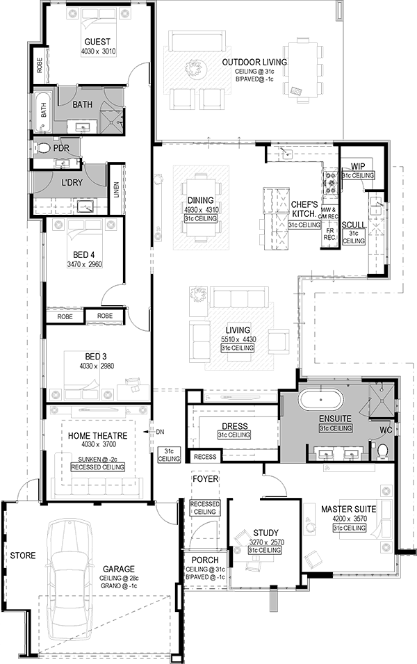 I LOVE EVERYTHING ABOUT THIS ESPECIALLY THE KITCHEN AND SCULLERY – Floor Plans With Kitchen In Middle Of House