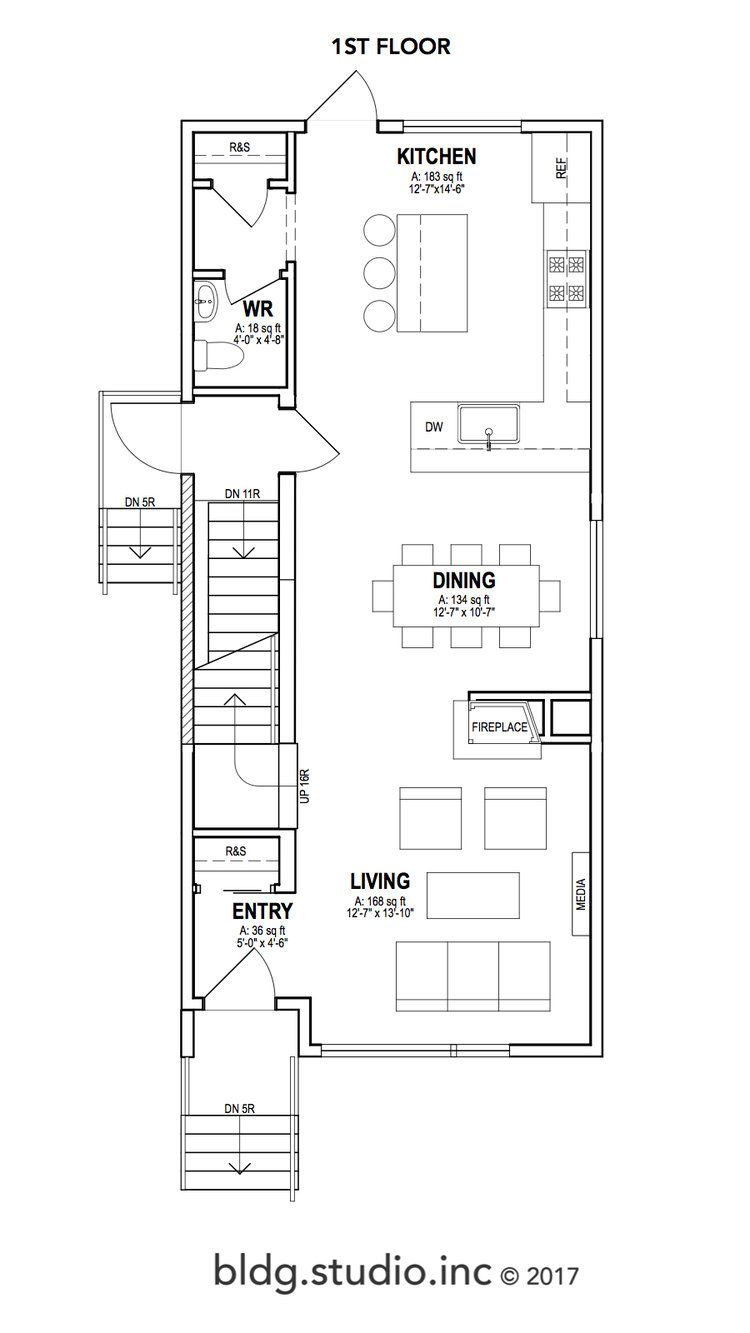 2 114 Think 1st Floor Jpg Narrow House Plans Two Storey House Plans Narrow Lot House Plans