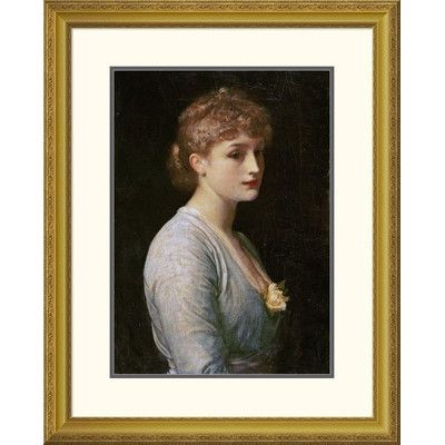 """Global Gallery 'Type of Beauty' by Lord Frederick Leighton Framed Painting Print Size: 32"""" H x 25.67"""" W x 1.5"""" D"""