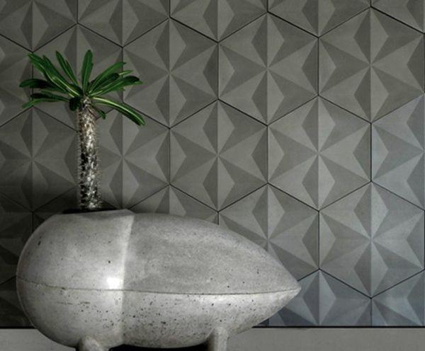 modern concrete tiles from the designer daniel ogassian room decorating