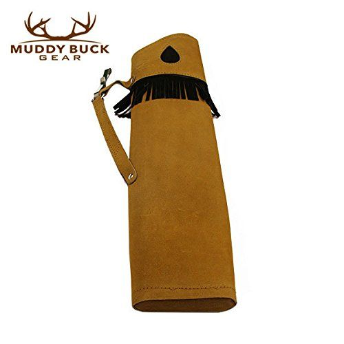 Muddy Buck Gear Tan Suede Leather Side Quiver Traditional ArcherySide Quiver  http://outdoorgear.mobi/product/muddy-buck-gear-tan-suede-leather-side-quiver/
