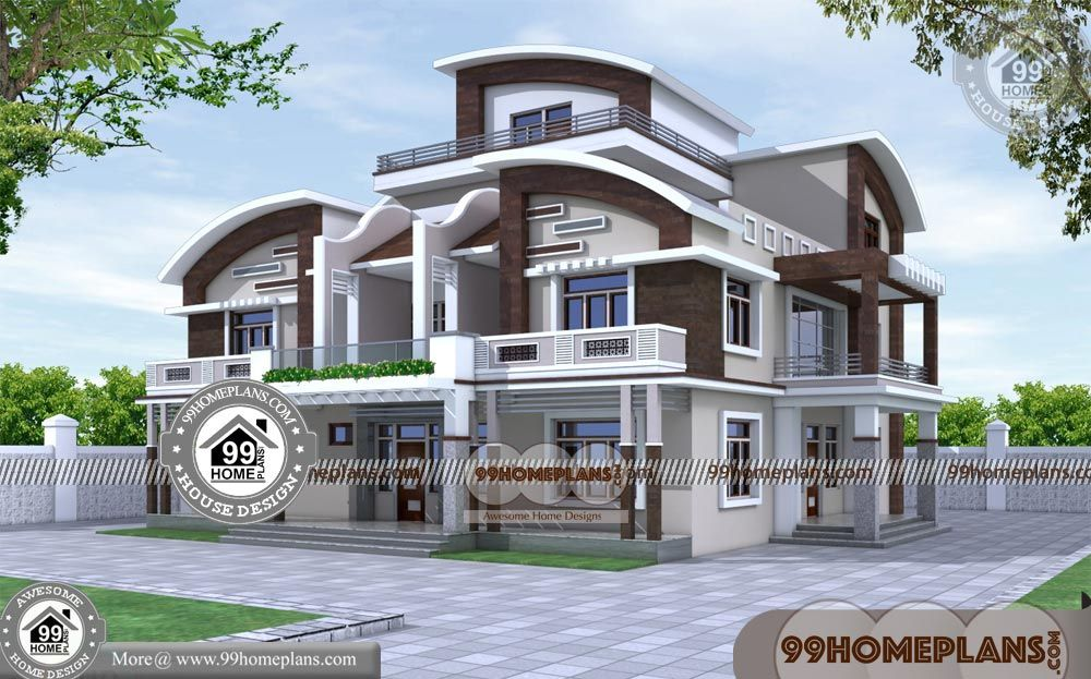 House Designs And Floor Plans 60 Three Story Home Designs Online In 2020 Indian House Plans Kerala House Design House Plans Mansion