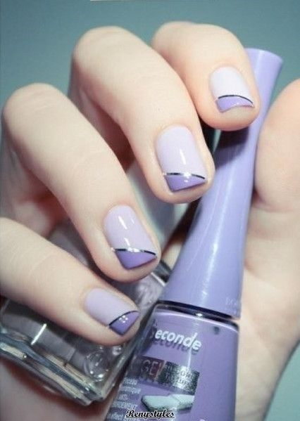 Newest Two-Tone Nail for Women | Nails | Pinterest | Nails, Nail Art and Two  tone nails - Newest Two-Tone Nail For Women Nails Pinterest Nails, Nail Art