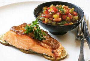 Seductive Salmon with Rainbow Salsa
