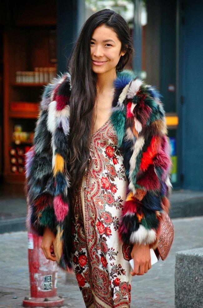 Artikel, Multicolor Fur Coats, via A Bit Of Sass