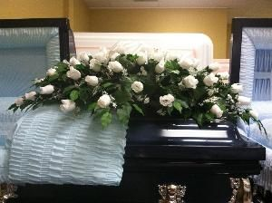 White silk flower casket spray for 14500 available at httpwww white silk flower casket spray for 14500 available at httpthecasketstore mightylinksfo