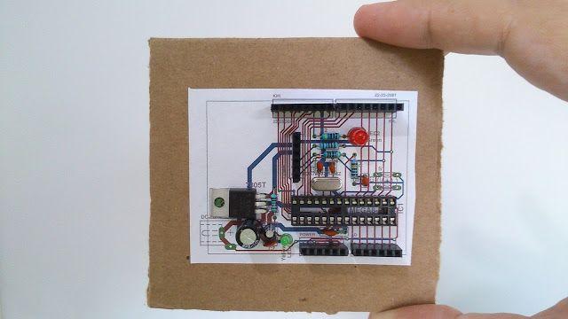 FritzenLab: Prototipagem mecânica (mockup) de placas eletrônicas em PAPEL!