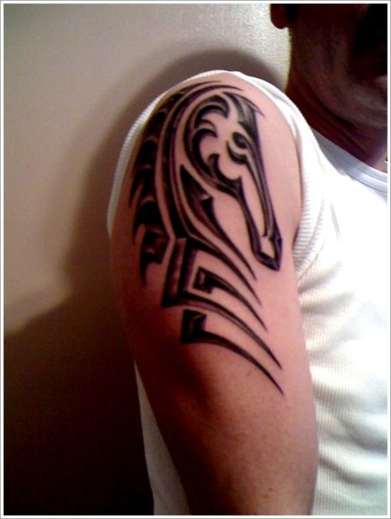 Tribal Horse Tattoo Ideas For Men On Sleeve Horse Tattoo Pictures Sea Horse Tattoo Horse Tattoo Design Tribal Tattoos Tribal Horse Tattoo
