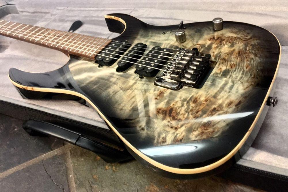 Ibanez Rg1070pbz Cbk Premium Rg Charcoal Black Burst Guitar Wenge Fretboard Ibanez Guitar Drums For Sale Black Charcoal