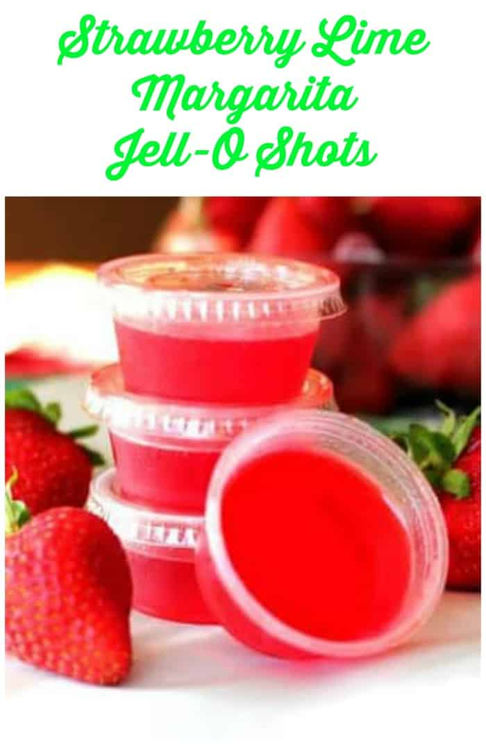 Strawberry Lime Margarita Jell-O Shots #limemargarita Strawberry Lime Margarita Jell-O Shots #strawberry #jello #shots #margarita #lime #jelloshots #boozydessert #limemargarita