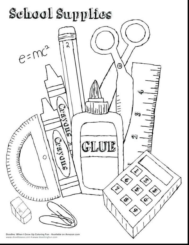 Back to School Coloring Pages for Kids PDF - Coloringfolder.com