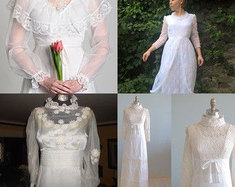 Discover Your Inner Bride - Outstanding Vintage Wedding Gowns Under $100 by Lyn Patricia on Etsy--Pinned+with+TreasuryPin.com