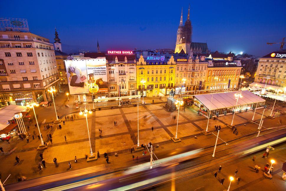 Zagreb S Ban Jelacic Square Croatia Zagreb Zagreb Croatia