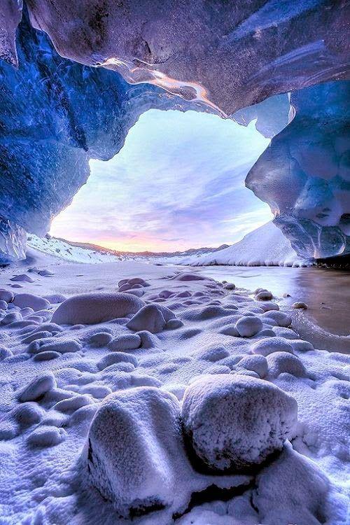 Ice Cave Sunset