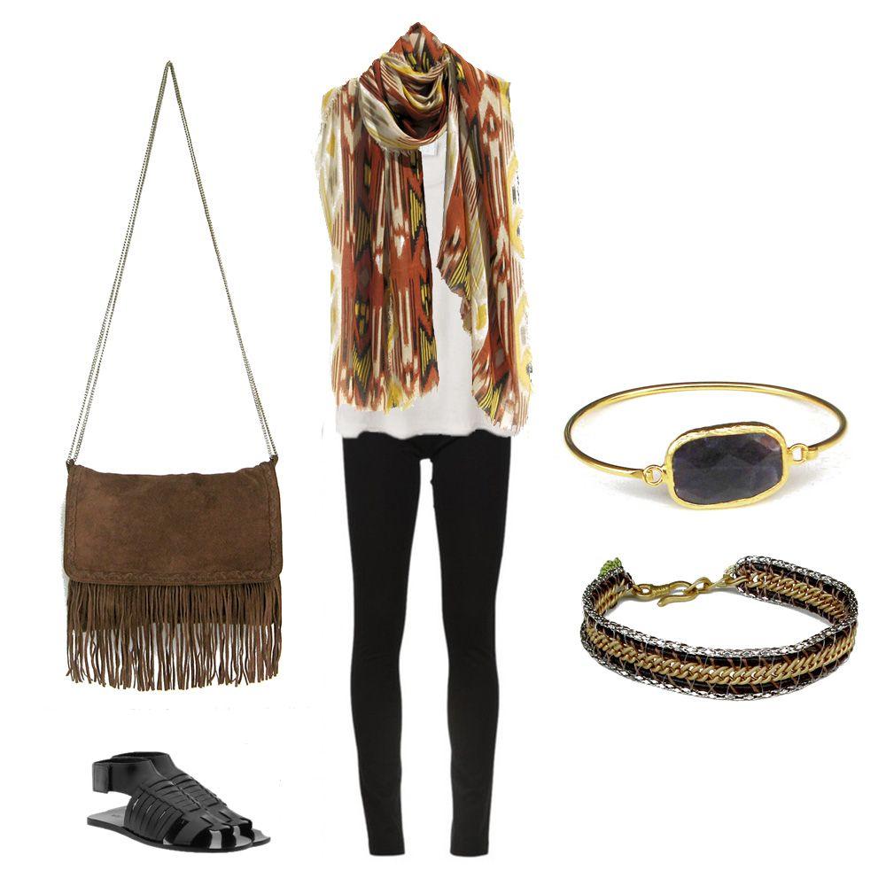 Bracelets, bag and scarf www.myla.es