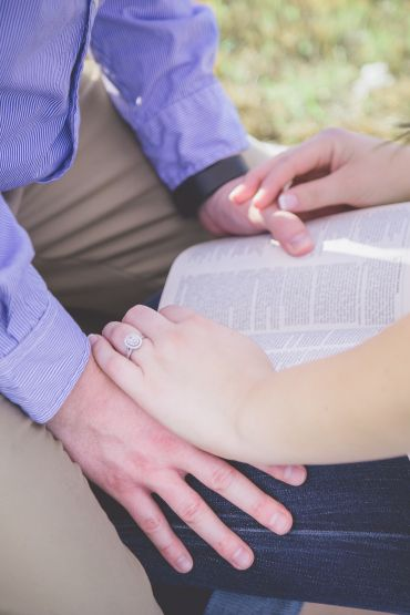 Engagement Photos with a bible   XO. Photography | Colorado Engagement Photographer