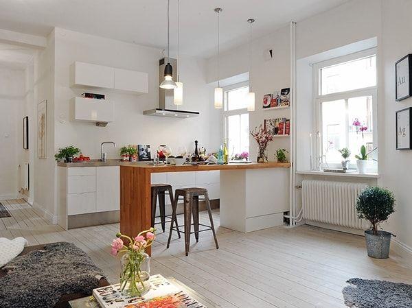 Cocinas abiertas para casas con estilo spa karina for Pequena cocina abierta al comedor