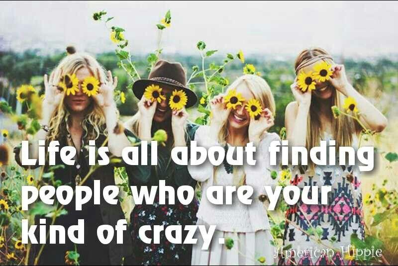 American Hippie ☮ Crazy Friends