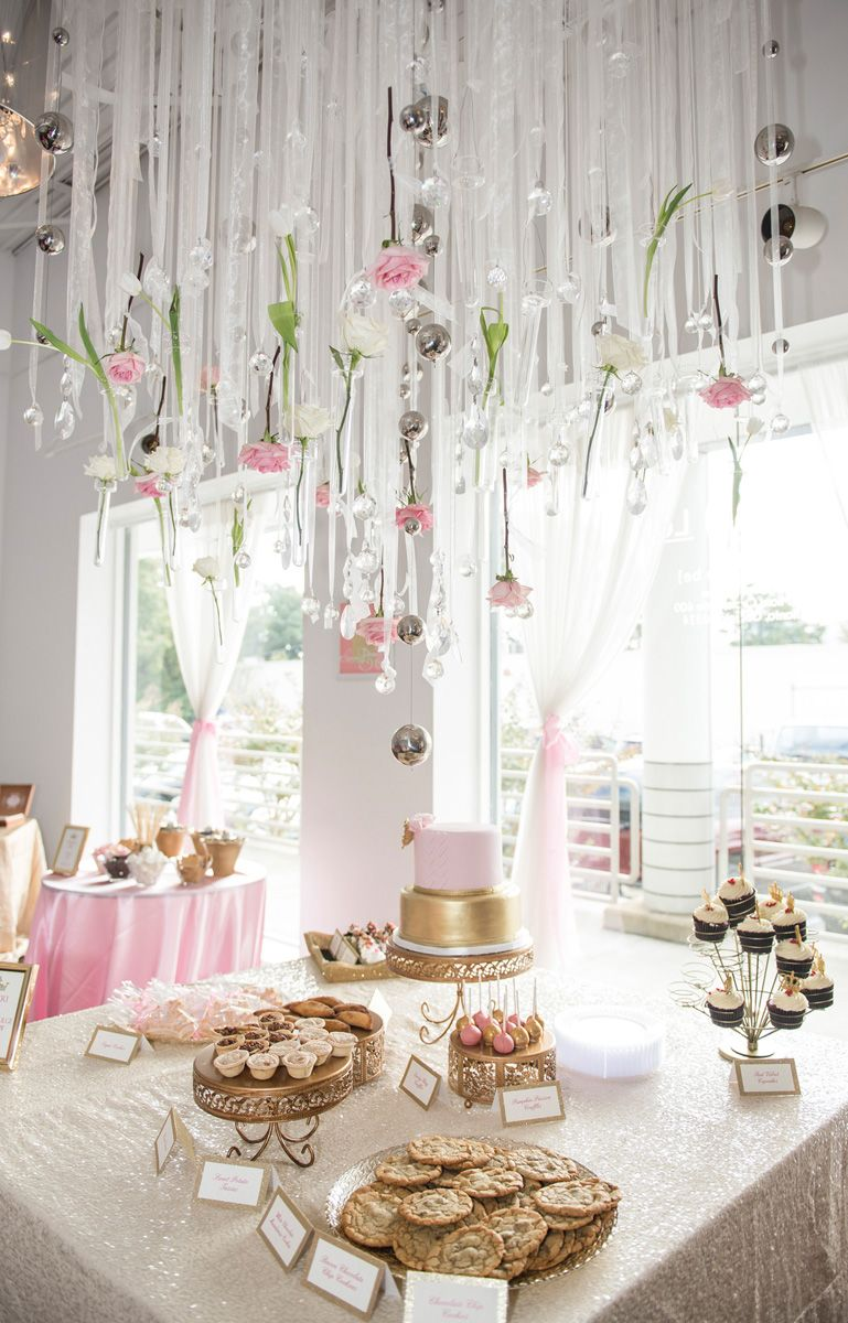 Sweet Girly Baby Shower Pink Gold Baby Shower Baby Shower Princess Theme Baby Shower Diy