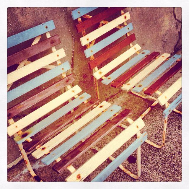 Retro Beach Chairs