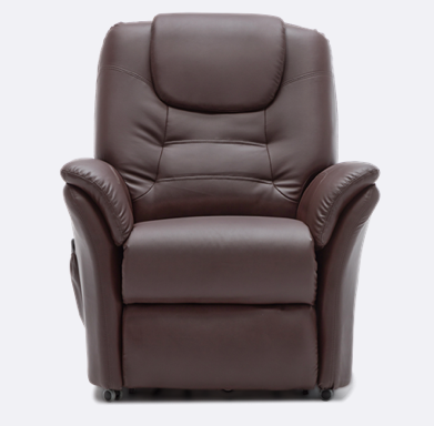 The Weybridge Riser Recliner Brown Is Both A Smart And Practical Addition To Any Home Featuring A Single Motor Mechanism All You Recliner Online Furniture Chair