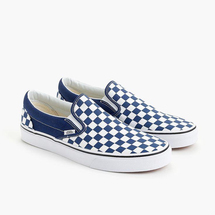 Blue vans shoes, Vans slip